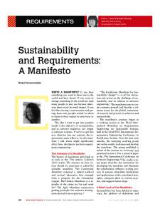 Sustainability and Requirements: A Manifesto - IEEE Xplore