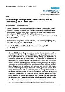 Sustainability Challenges from Climate Change and Air ... - CiteSeerX