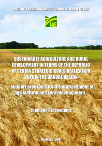 SUSTAINABLE AGRICULTURE AND RURAL