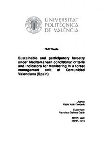 Sustainable and participatory forestry under