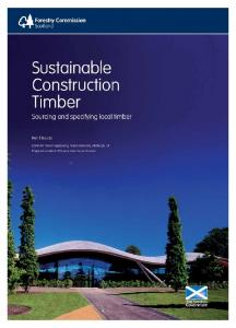 Sustainable Construction Timber - Forestry Commission