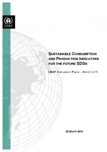 sustainable consumption and production indicators for the future sdgs