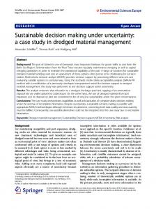 Sustainable decision making under uncertainty: a ... - World News MD