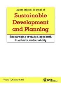 Sustainable Development and Planning Sustainable