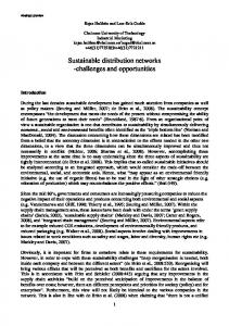 Sustainable distribution networks -challenges and ... - IMP Group