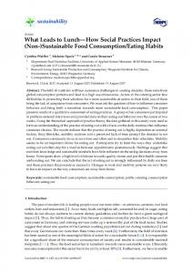 Sustainable Food Consumption/Eating Habits - MDPI
