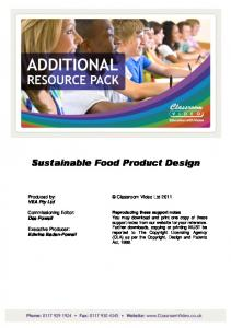 Sustainable Food Product Design