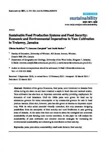 Sustainable Food Production Systems and Food Security: Economic ...