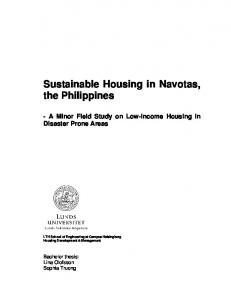 Sustainable Housing in Navotas, the Philippines - HDM