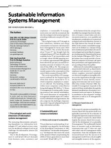 Sustainable Information Systems Management - Springer Link