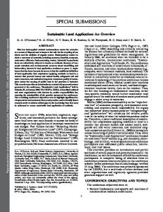 Sustainable Land Application - ENVIS
