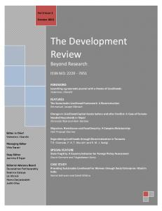 Sustainable Livelihoods - The Development Review