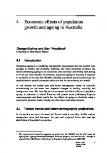 'Sustainable' Population? - Productivity Commission