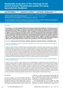 Sustainable production of fine chemicals by the solvent ... - CiteSeerX