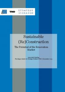 Sustainable (Re)Construction - The Hague Centre for Strategic Studies