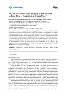 Sustainable Renovation Strategy in the Swedish ... - Semantic Scholar