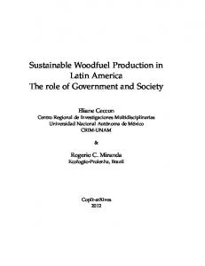 Sustainable Woodfuel Production in Latin America The role of ...