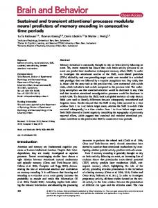 Sustained and transient attentional processes ... - Wiley Online Library