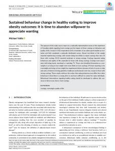 Sustained behaviour change in healthy eating ... - Wiley Online Library