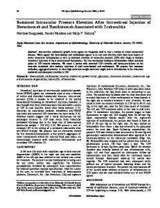 Sustained Intraocular Pressure Elevation After ... - Bentham Open