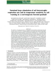 Sustained large stimulation of soil heterotrophic respiration rate and its ...