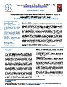 Sustained release formulation of metformin-solid