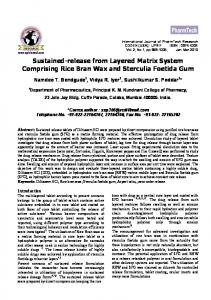 Sustained-release from Layered Matrix System Comprising Rice Bran ...https://www.researchgate.net/.../Sustained-release-from-Layered-Matrix-System-Comp...