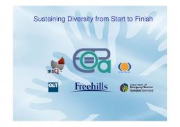 Sustaining Diversity from Start to Finish