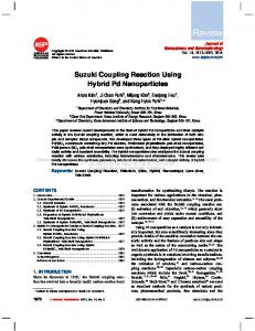 Suzuki Coupling Reaction Using Hybrid Pd Nanoparticles