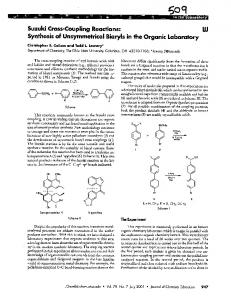 Suzuki Cross-Coupling Reactions - Chemistry Courses