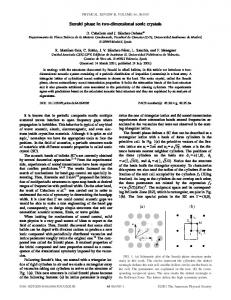 Suzuki phase in two-dimensional sonic crystals - APS Link Manager