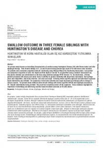 swallow outcome in three female siblings with