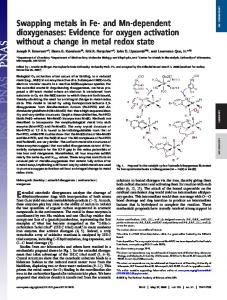 Swapping metals in Fe- and Mn-dependent dioxygenases: Evidence ...