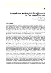 Swarm-Based Metaheuristic Algorithms and No-Free-Lunch Theorems