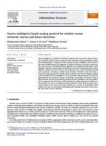 Swarm intelligence based routing protocol for ... - Semantic Scholar