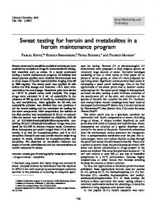 Sweat testing for heroin and metabolites in a heroin ... - CiteSeerX