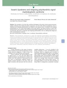 Sweet's Syndrome and relapsing polychondritis ... - Semantic Scholar