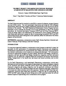 Swift Contamination Requirements - NASA Technical Reports Server ...