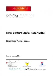 Swiss Venture Capital Report 2013 - Startupticker.ch