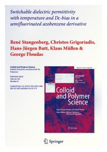Switchable dielectric permittivity with temperature and ...