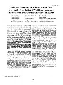 Switched Capacitor Snubber-Assisted Zero Current Soft ... - IEEE Xplore