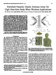 Switched Parasitic Dipole Antenna Array for High-Data ... - IEEE Xplore