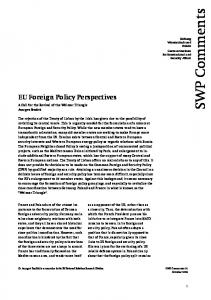 SWP Comments 2008/C 20, October 2008, 8 pages - Stiftung ...