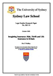 Sydney Law School - SSRN papers