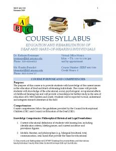 Syllabus - College of Education