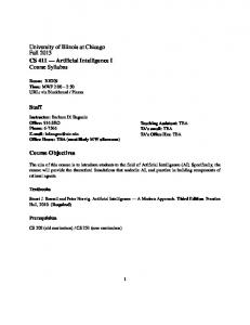 Syllabus - Home - University of Illinois at Chicago