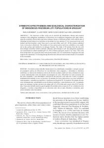 symbiotic effectiveness and ecological characterization of ... - Scielo.br