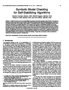 Symbolic model checking for self-stabilizing algorithms ... - IEEE Xplore