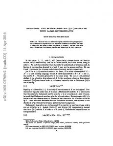 Symmetric and skew-symmetric $\{0,\pm 1\} $-matrices with large ...
