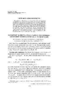 Symmetric matrices, characteristic polynomials, and Hilbert symbols